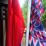 Изготовление флаговой конструкции металл пошив флагов расцвечивания полноцветная печать флагов РостАрт Москва 2017 996