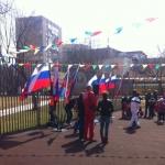 Оформление мероприятия для муниципалитета флаги флажная лета банеры РостАрт221 2014год