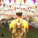 Изготовление гирлянд флажков на заказ определенных цветов для Яндекс Пикник РостАрт Москва 6009