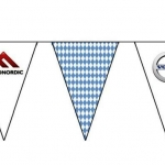 Изготовление флажной ленты на заказ на праздник гирлянда из флажков для автосалона РостАрт Москва 2017 8140