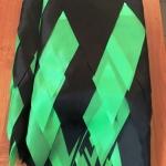 Изготовление гирлянд из флажков из ткани на заказ флажная лента на заказ из ткани зеленая черная для праздника РостАрт Москва 2018 12110