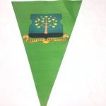 Полноцветная печать на ткани изготовление флажной ленты для управы района Нагатино-Садовники РостАрт 2212