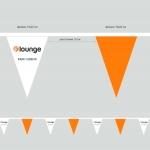 Изготовление флажной ленты из бумаги на мероприятие компании  F-lounge РостАрт 3362