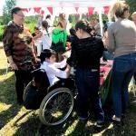 Изготовление гирлянды из флажков на заказ для мероприятия праздник пикник РостАрт Москва 2017 5534