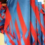 Гирлянды из флажков из ткани на заказ красная синяя флажная лента из ткани на веревке РостАрт Москва 2018 18262
