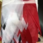 Гирлянды из флажков из ткани на заказ на черной тесьме печать на ткани шелк РостАрт Москва 2018 18300