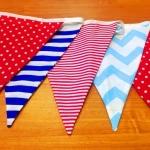 Изготовление гирлянд из флажков из ткани на заказ двусторонние РостАрт Москва 2017 8009