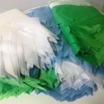 Изготовление гирлянд из флажкой разной формы и цветов на заказ из ткани РостАрт Москва 2017 8708