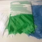 Изготовление гирлянд из флажкой разной формы и цветов на заказ из ткани РостАрт Москва 2017 8709