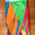 Изготовление гирлянд из флажков большого размера на заказ флажная лента из флажков большого размера РостАрт Россия Москва 2018 12307