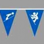 Изготовление флажной ленты на заказ из ткани полноцветная печать флажков для спортивного комплекса РостАрт Москва 2017