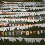 Гирлянды из флажков на заказ однотонные хвостик печать на ткани печать флажков гирлянда из флажков с печатью РостАрт Москва 2018
