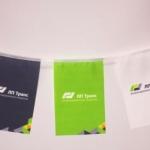 Изготовление флажной ленты на заказ печать на ткани брендирование траспортной компании РостАрт 2237