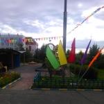 Флаговые конструкции пятирожковые с утяжелителем флажковая гирлянда праздничное оформление детского сада РостАрт 0903
