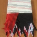 флажная лента стандартная на заказ бело красно черная для мероприятия из ткани РостАрт 1007