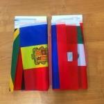 Флажковая гирлянда на заказ полноцветная печать флажков с логотипом РостАрт 1106