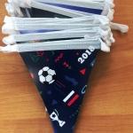 Изготовление гирлянд из флажков из бумаги на заказ флажная лента гирлянда из бумаги печать флажков Москва РостАрт 16520