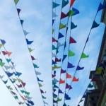 Изготовление флажной ленты гирлянды из флажков для городского мероприятия РостАрт Москва 2017