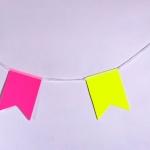 Изготовление флажной ленты из бумаги ультра яркой на заказ гирлянды из флажков бумажных РостАрт Москва 2018 12018