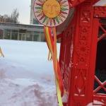 Изготовление гирлянд из флажков на заказ ленты атласные на Масленицу РостАрт Москва 2018 12131
