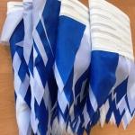 Изготовление гирлянд из флажков из ткани на заказ флажная лента на заказ РостАрт Москва 2018 15993