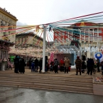 Изготовление флажной ленты на заказ и декорирование лентами Масленица Москва 2107 изготовитель РостАрт 5511