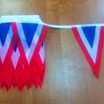 Изготовление флажной ленты на заказ печать флажков для тематического оформления мероприятия РостАрт 3329