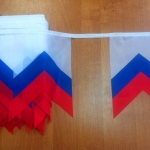 Изготовление флажной ленты на заказ печать флажков для тематического оформления мероприятия РостАрт 3330