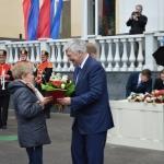 Изготовление флаговых конструкций Костер для празднования 80-летия НПО Лавочкина РостАрт Москва 2017