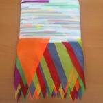 флажная лента стандартная пятицветная для мероприятия из ткани РостАрт 991