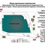 Интерьерная печать на баннере строительный щит РостАрт Москва 2017