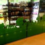 Фрезерная резка фанеры на заказ окрашивание фанеры оформление магазина фермерских продуктов Москва 2016