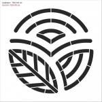 Изготовление трафарета логотип из пластика на заказ дизайн подготовка макета к резке РостАрт Москва 5897
