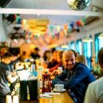 Изготовление флажной ленты на заказ гирлянда из флажков для ресторана Веранда Москва 2017