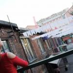 Изготовление флажной ленты на заказ однотонная гирлянды из флажков для Флакон РостАрт Москва 2018 15831