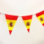 Изготовление флажной ленты на заказ из бумаги для мероприятия флаг Испании РостАрт 3442