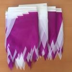 флажная лента на заказ бело фиолетовая 500 метров гирлянда из флажков РостАрт 3320