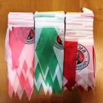 Гирлянды из флажков из ткани печатьо на ткани брендирование BACARDI РостАрт Москва 2018