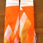 Гирлянды из флажков из ткани на заказ белая желтая оранжевая флажная лента из ткани на веревке РостАрт Москва 2018 18254