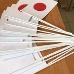 Флажки бумажные на палочке изготовление на заказ флаг Японии для мероприятия Фестиваль японской культуры Парк Горького РостАрт Москва 2018