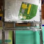 Изготовление металлической стойки для мнемосхемы уф-печать с белилами на пластике мнемосхема с металлической стойкой в сборе РостАрт Москва 2018