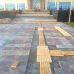 Монтажные работы бетонная плитка по программе Доступная Среда РостАрт Россия 2016