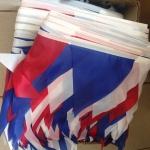 Изготовление гирлянд их флажков на заказ триколор красный белый синий РостАрт Москва 2018 17844