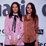 Пресс-волл для мероприятия 20-летие в России журнал Marie Claire Катя Клэп и Нюта Музей Москвы 2017