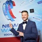 Пресс-волл фотозона музыкальный фестиваль Новая Волна 2018 Сергей Лазарев СОЧИ 2018