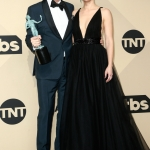Пресс-волл премия гильдии кино США Гари Олдман Кристен Белл Лос-Анджелес США 2018