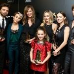 Пресс-волл 21-я церемония вручения премии Hollywood Film Awards актерский состав фильма Леденая Стерва Беверли-Хиллс 2017