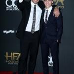 Пресс-волл 21-я церемония вручения премии Hollywood Film Awards Джеймс и Дэйв Франко Беверли-Хиллс 2017