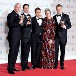 Пресс-волл с красной дорожкой 71-я премия Британской академии кино и телевизионных искусств BAFTA команда фильма Три билборда на границе Эббинга Миссури Лондон 2018