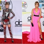 Пресс-волл фотозона с красной дорожкой премия American Music Awards Тейлор Свифт Дженнифер Лопез Лос-Анджелес США 2018